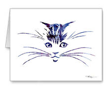 CAT note cards by watercolor artist DJ Rogers