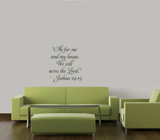 AS FOR ME AND MY HOUSE WE WILL SERVE THE LORD HOME VINYL DECAL WALL RELIGIOUS