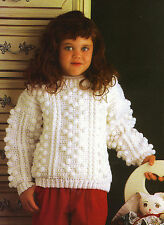 COZY Kid's Snowball Sweater/Crochet Pattern INSTRUCTIONS ONLY