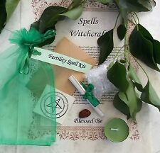 Fertility Spell Kit  Votive Candle and Bath Magic Created by a Witch Wicca