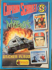 Captain Scarlet RARE PANINI STICKER ALBUM BOOK Gerry Anderson complete