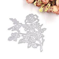 1 Pcs Metal Bird Flower Cutting Dies Stencil Template DIY Scrapbook Paper Cards