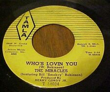 (NORTHERN SOUL 45) MIRACLES - SHOP AROUND / WHO'S LOVING YOU (TAMLA #54034)