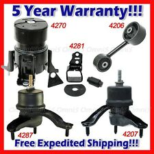 L857 For 2001-2003 Toyota Highlander 3.0L 2WD Engine Motor & Trans Mount Set 5pc