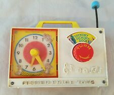 Vintage 1971 Fisher Price Toys Hickory Dickory Dock Clock Radio