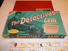 RARE VINTAGE THE DETECTIVES BOARDS GAME 1961 COMPLETE ROBERT TAYLOR