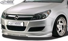 RDX Frontspoiler OPEL Astra H Front Spoiler Lippe Vorne Ansatz PUR ABS