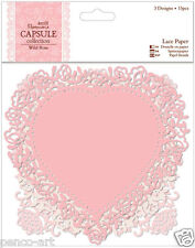 Papermania capsule collection Wild Rose scrapbooking lace paper shapes