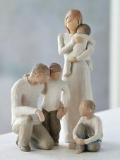 Willow Tree Mother and Father with 3 children Figurine set in Gift BOX  23367