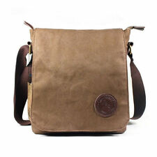 Men's Vintage Casual Canvas Leather Shoulder Bags Messenger Hiking Man Satchel