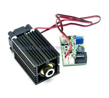 Focusable 450nm 2W 2000mw Blue Dot Laser Module W/Driver+TTL 12V Wood Carving