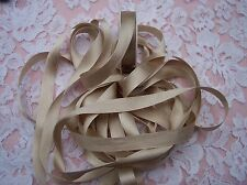 "100% PURE SILK SATIN  RIBBON 1/2""[13MM] WIDE 10 YD SPOOL CHAMPAGNE"