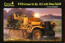 Caesar Miniatures 1/72 GERMAN Sd.Kfz. 10/4 HALF TRACK with 20mm FLAK 30