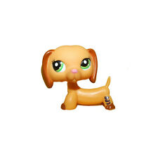 Littlest Pet Shop Animal Green Eyes Brown Ears Puppy Dog Loose Figure Child Toy