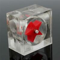 Water Cooling Flow Meter Acrylic 3 Ways G1/4 Threaded Without Barb