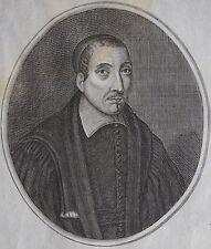 SAPENTISSIMUS MAGISTER GABRIEL D'ABES occitan.......... Portrait. Gravure origin