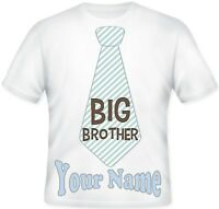 BOYS  Sublimation Top TIE Personalised BIG BROTHER T Shirt Great GIFT Idea