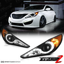"For 2011 2012 2013 2014 Sonata ""KDM STYLE"" OLED Neon Tube Headlights Headlamps"
