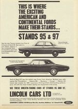 1966 FORD TAUNUS & THUNDERBIRD V8 LINCOLN CARS SHOW AD