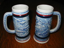 Vintage Avon Mini Beer Steins Airplanes 1982 Flight Fly Set of 2