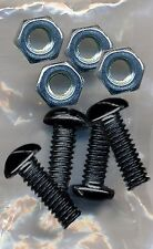 Black Metal License Plate Screws & Nuts For Mounting Plates Frames To Vehicle