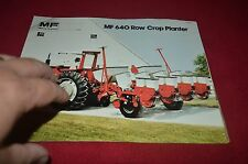 Massey Ferguson 640 Corn Row Crop Planter Dealer's Brochure DCPA6