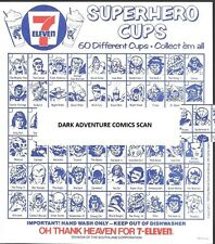 Vintage 1975 Marvel 7-11 Slurpee Superhero Cup Checklist VF/NM 7-Eleven NO REPRO