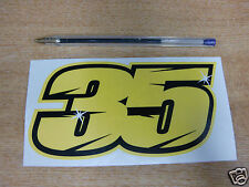2015 Cal Crutchlow #35 Race Number sticker -  150mm x 75mm - MotoGP / BSB Decals