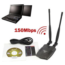 3000mW Wireless USB Wifi Adapter Long Range Dual Antenna Network Card 150Mbps