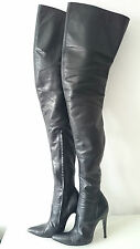Gr. 41 Fernando Berlin Modell 110 Damen High Heels Leder Stiefel Leather Boots