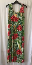 JAMS WORLD Multicolored Floral Tropical Print Long Dress Sz L