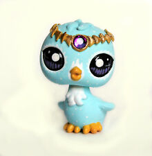 Littlest Pet Shop bird February birthstone OOAK custom figure Valentines gold c
