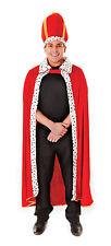 Royal Clásico Rey Bata y Sombrero De Navidad Navidad Elaborado Vestido Disfraz para hombre P7892