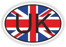 Oval Inglés Bandera Reino Unido con código de país de la etiqueta engomada Reino Unido Moto Auto Camioneta