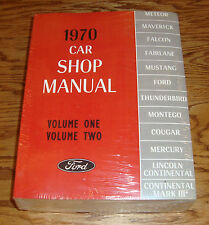 1970 Ford & Mercury Car Shop Service Manual Vol 1 2 3 4 5 Set 70 Mustang