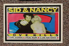 Sid and Nancy Lobby Card Poster Love Kills Gary Oldman
