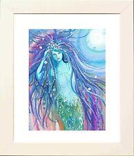 Sirena Luna Foto En Marco Blanco-imprimir desde Original por Keri manning-dedman