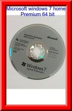 Microsoft Windows 7 Home premium SP1 64bit Full Version DVD with Product Key COA
