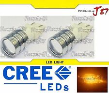 CREE LED Miniature 5W 3157 T25 Amber Orange Two Bulbs Replacement Light Lamp