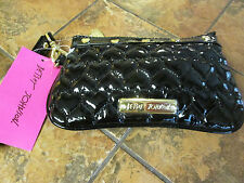 "Betsey Johnson--Be Mine Wristlet-7"" x 4.5"" x 0.5""--Black--Orig $58.00-New w/tags"