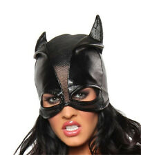 Adults Cat Woman Mask Soft Shiny Black Pvc Rubber Head Mask Costume Fetish New