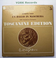 AT 300 - VERDI - Un Ballo In Maschera TOSCANINI - Excellent Con 3 LP Record Set