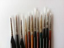 Model Painting Brushes for Warhammer Wargamer Foundry Army Painter etc x 10