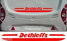 DETHLEFFS CARAVAN/MOTORHOME 2 PIECE KIT DECALS STICKER CHOICE OF COLOUR/SIZE #2