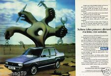 Publicité Advertising 1986 (2 pages) Seat Malaga .....salvador Dali