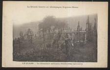 POSTCARD ARGONNE FRANCE EARLY MILITARY CEMETERY VIEW 1910'S
