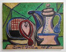 """Painting sig.""""Emil Filla"""" Czech Cubism expressive Stilllife Avantgarde Modernist"""