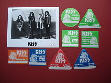 KISS,promo photo,8 Backstage passes,RARE Revenge Tour Originals