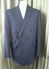 Marks & Spencer Sartorial Wool Navy Gold Button Double Breasted Blazer 42M
