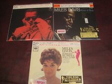MILES DAVIS 3 JAPAN REPLICA OBI SEALED CD'S KIND OF BLUE SET CHRISTMAS SPECIAL